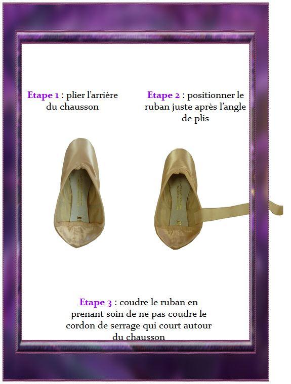 La méthode pour coudre les rubans de ses pointes de danse
